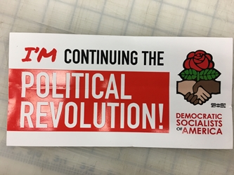 Continuing the Political Revolution Bumper Sticker - 10 pack