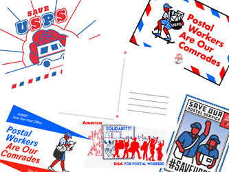 DSA for Postal Workers Postcards