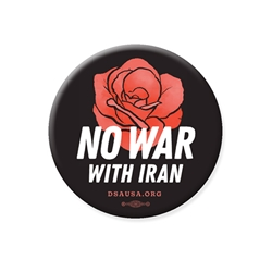 No War With Iran Button (Bulk Pricing Available)