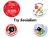 Try Socialism Button Pack - PK56321